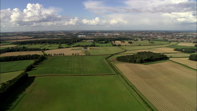 english countryside - aerial view - england, nottinghamshire, bassetlaw, united kingdom - nottinghamshire stock videos & royalty-free footage