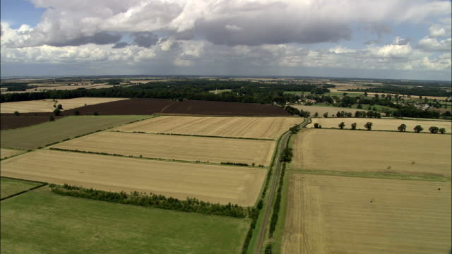 english countryside - aerial view - england, rutland, exton, united kingdom - english culture stock videos & royalty-free footage