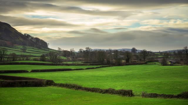 english farmland - time lapse - english lake district stock videos and b-roll footage