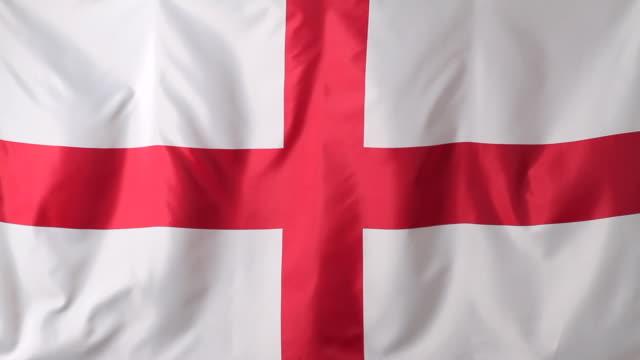 cu english flag / berlin, germany - bandiera inglese video stock e b–roll