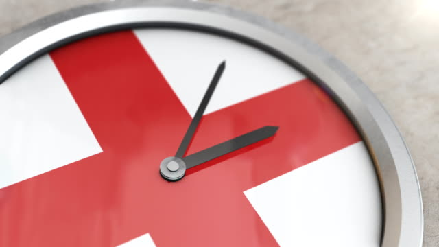 english flag clock timelapse - general election stock videos & royalty-free footage