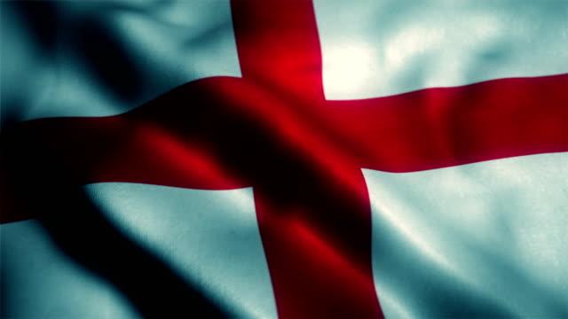 english flag, england flag - bandiera inglese video stock e b–roll