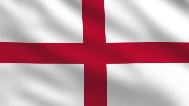 bandiera inglese - bandiera inglese video stock e b–roll