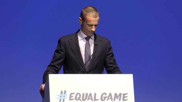 stockvideo's en b-roll-footage met english football bosses are ready to strengthen punishments against racism. uefa president aleksander ceferin made the trip to wembley for the first... - english football association