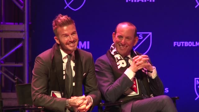english football superstar david beckham is officially awarded a major league soccer franchise in miami but there is no immediate word on when the... - major league soccer stock videos and b-roll footage