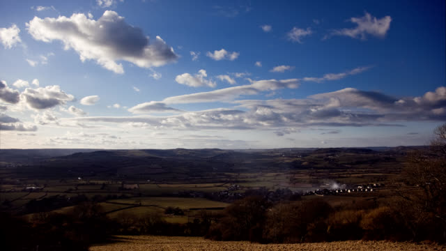 english hills and fields timelapse - devon stock videos & royalty-free footage