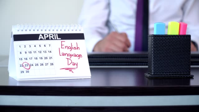 english language day - special days - english culture stock videos & royalty-free footage