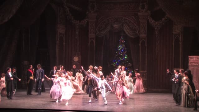 english national ballet dress rehearsal of the nutcracker at london coliseum on december 13 2010 in london england - ballet dancing stock videos & royalty-free footage