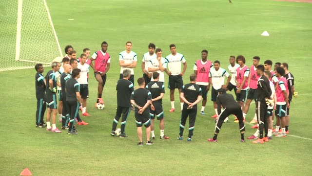 English Premier League champions Chelsea train ahead of an exhibition match on Saturday against the Thailand All Stars