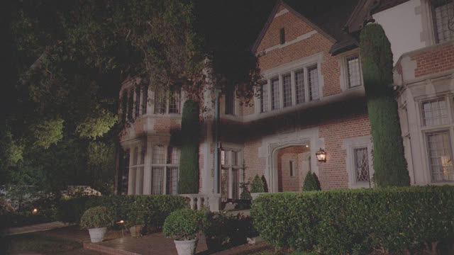 english red brick mansion, night; matching 99184 - 99188 - stately home stock videos & royalty-free footage