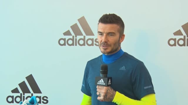 english retired footballer david beckham attends an adidas event on march 28, 2019 in guangzhou, guangdong province of china. - adidas stock videos & royalty-free footage