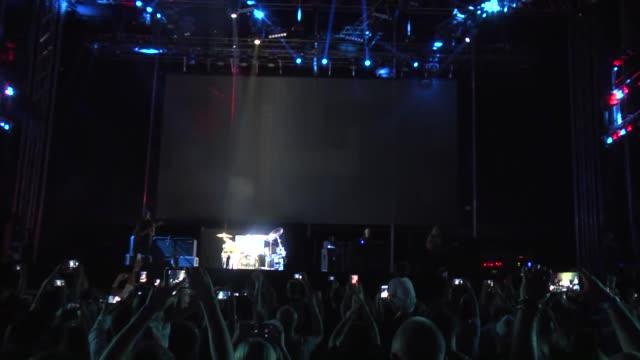 english rock band deep purple perform onstage during the ''expo 2016 antalya'' in turkey's antalya on june 05 2016 - ian gillan stock-videos und b-roll-filmmaterial