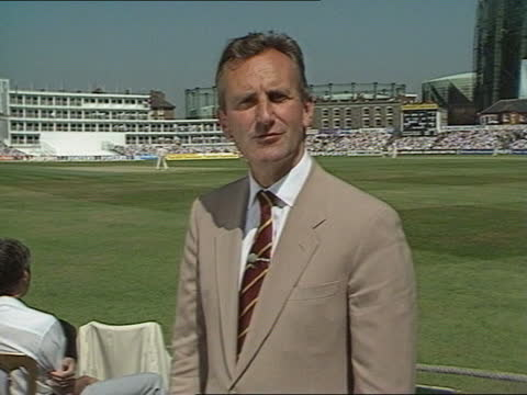 ted dexter report:; england: london: kennington: oval cricket ground: ext cms ted dexter i/c sof - oval kennington stock videos & royalty-free footage