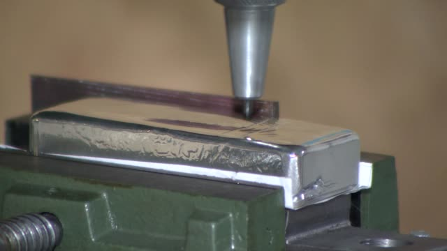 engraving hallmark on silver ingot - silver coloured stock videos & royalty-free footage