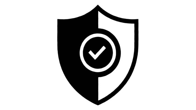 アルファによる品質と安全ラインの描画とインクスプラッタアニメーションの強化 - 盾点の映像素材/bロール