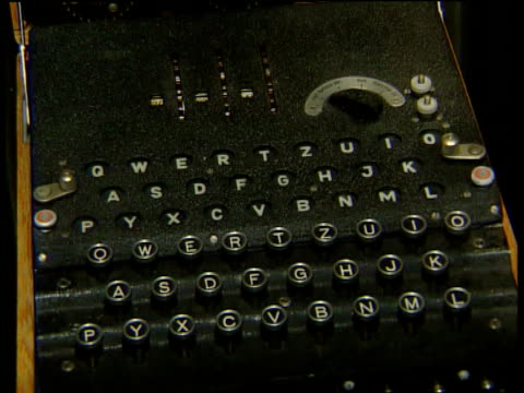 imperial war museum gv uboat display pan coding instructions tilt down to enigma machine penny ritchiecalder interview sot would be almost impossible... - enigma machine stock videos & royalty-free footage