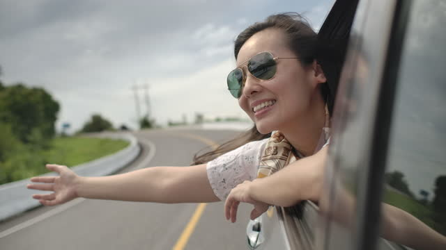 enjoy on road trip - concepts stock videos & royalty-free footage