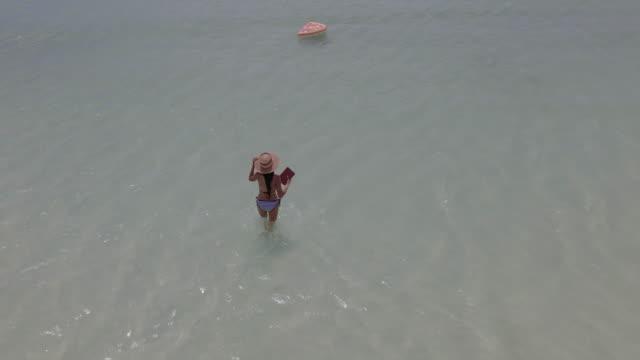 enjoy summer at sea - bikini top stock videos & royalty-free footage