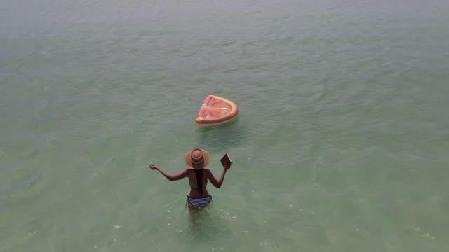 enjoy summer - bikini top stock videos & royalty-free footage