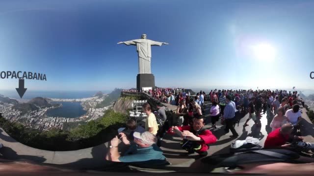 Enjoy the views from the top of the Corcovado mountain