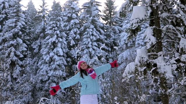 enjoy winter vacation! - ski holiday stock videos & royalty-free footage