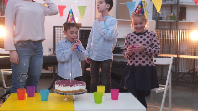 enjoying a birthday party - cap stock videos & royalty-free footage