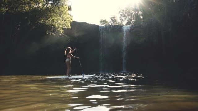 enjoying a breathtaking paddle - tourism stock videos & royalty-free footage