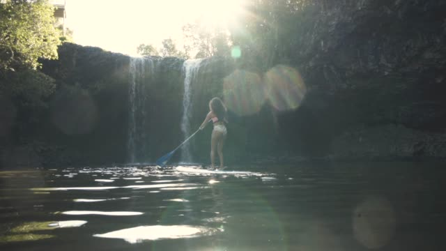 enjoying a breathtaking paddle - natural parkland stock videos and b-roll footage