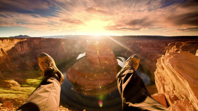 POV Enjoying a view over the Horseshoe Bend
