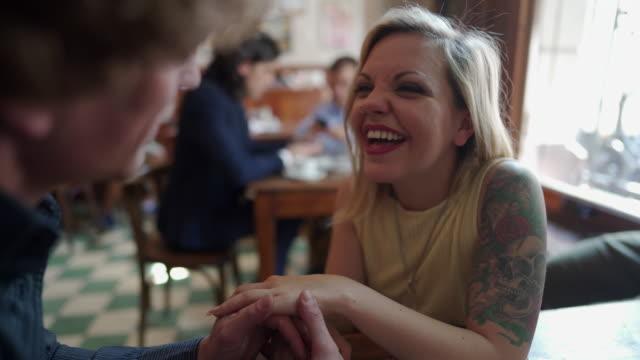 enjoying an afternoon date together - nose ring stock videos & royalty-free footage