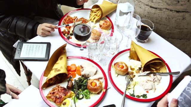enjoying an italian brunch - foodie stock videos & royalty-free footage