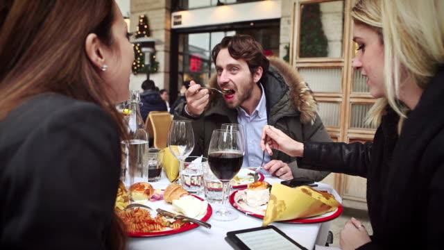 enjoying an italian brunch - brunch stock videos and b-roll footage