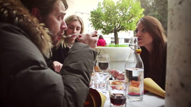 enjoying an italian brunch - brunch stock videos & royalty-free footage