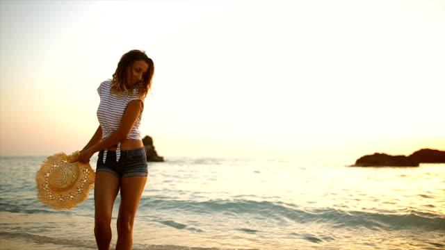 enjoying at the beach - greece stock videos & royalty-free footage