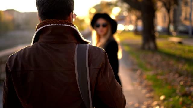 enjoying autumn walk - riverbank stock videos & royalty-free footage
