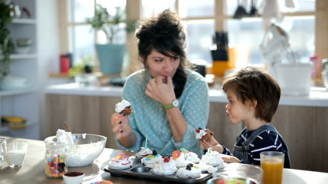 enjoying cupcakes - baked stock videos & royalty-free footage