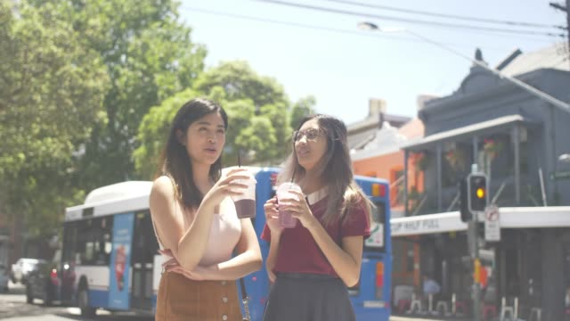 Enjoying milk shake in Surry Hills, Sydney