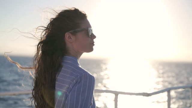 enjoying peaceful sea views - yacht stock videos & royalty-free footage