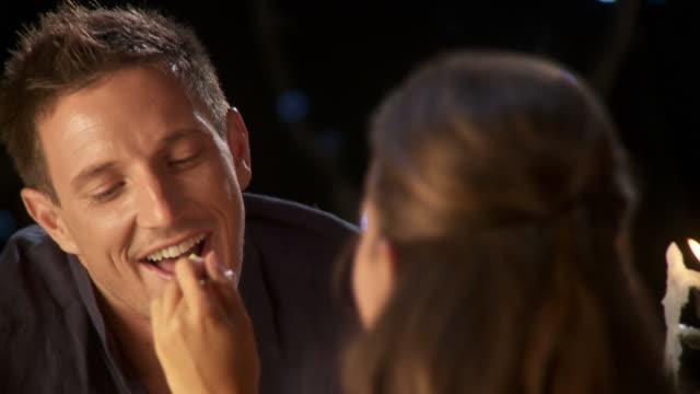 hd: enjoying romantic dinner - anniversary stock videos & royalty-free footage