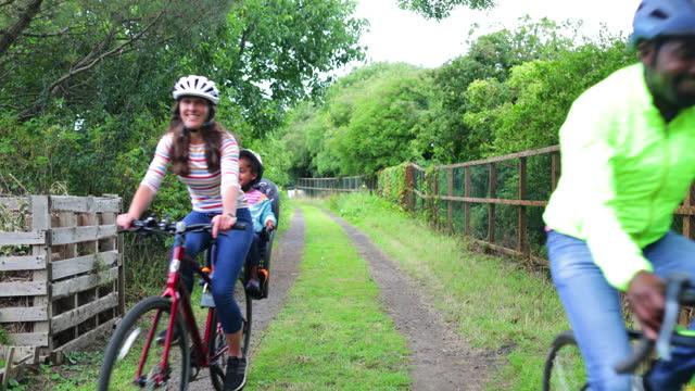 enjoying the fresh air - bicycle seat stock videos & royalty-free footage