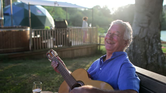enjoying the guitar - travel destinations stock videos & royalty-free footage