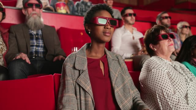 enjoying the movie - 3d glasses stock videos & royalty-free footage