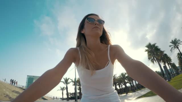 enjoying the ride - digital camcorder stock videos & royalty-free footage