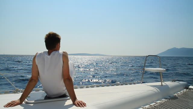 hd: enjoying the sailing - handsome people stock videos & royalty-free footage