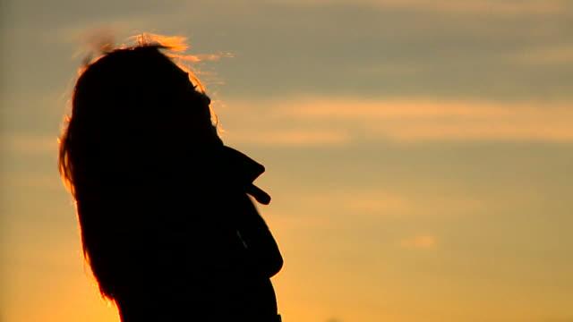 HD SLOW-MOTION: Enjoying The Sunset