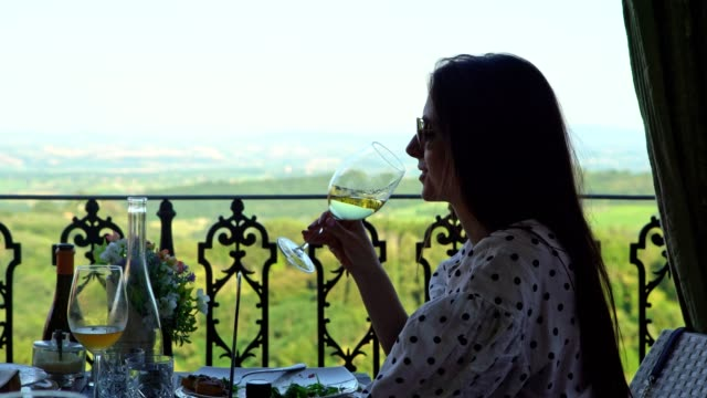 enjoying tuscany with a view - mediterranean culture stock videos & royalty-free footage