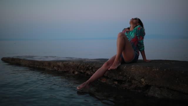 enjoying vacation - head back stock videos & royalty-free footage
