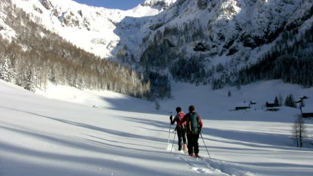 Enjoying winter in mountains