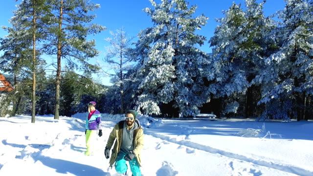Njutning på snö