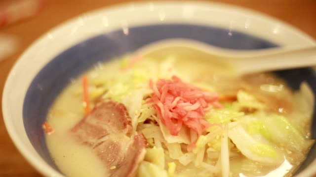 Enjoys eating ramen in Japanese restaurant